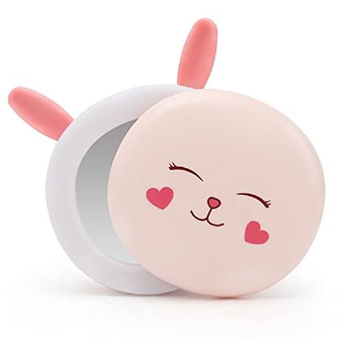 liaobeiotry Calentador portátil multifunción USB recargable Power Bank pequeño y fácil de transportar regalo para hombre con espejo para maquillaje de luz LED eléctrica