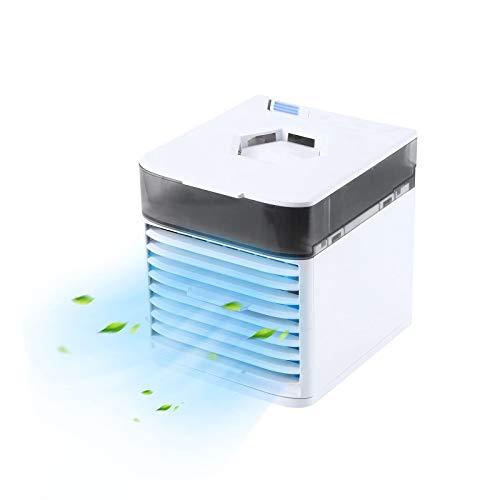 ZHOUJ Mini refrigerador de Aire portátil USB Pequeño refrigerador de Aire Cristal de Hielo Acondicionador de Aire pequeño, circulador de Aire Tranquilo para el hogar, Oficina