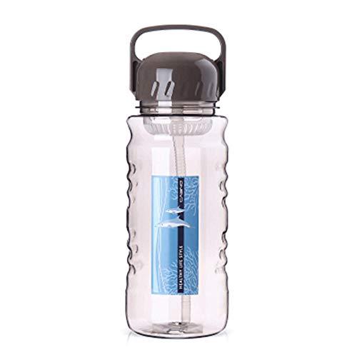 Botella de agua deportiva duradera sin fugas, reutilizable, tapa de taza portátil, fácil de llevar para senderismo, camping, fitness, ciclismo, senderismo, deportes