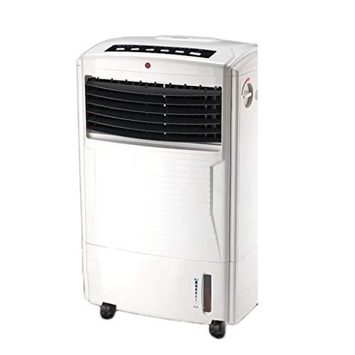 Ventilateur de tour de ventilateur de bureau de ménage sans feuilles, froid et chaud, ventilateur de climatiseur à double usage, blanc (Color : White)