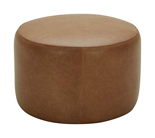 Rivet Tompkins Contemporary Foam-Padded Leather Ottoman