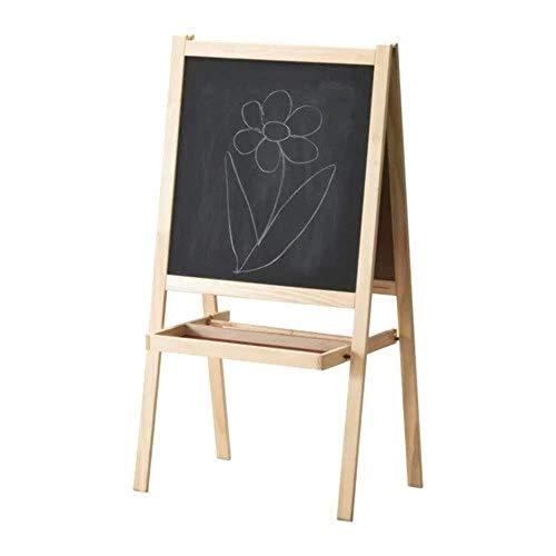 "IKEA 500.210.76 Softwood Mala Easel, 17"" L x 24"" W x 46"" H, Black/Natural/White"