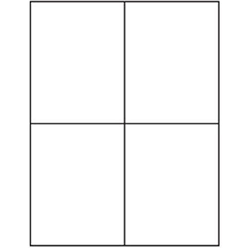 4 Labels per Sheet 400 White Blank Quarter Sheet Self Adhesive Shipping Labels for UPS, USPS, FedEx, DHL, Endicia