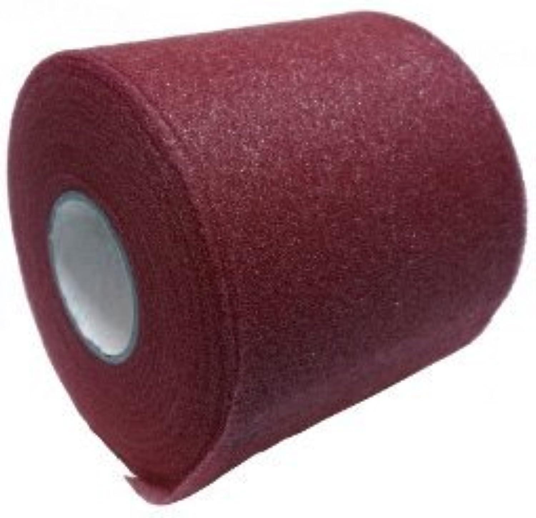 Mixed colors Bulk Prewrap for Athletic Tape  1 Roll, Maroon PREWRAP by Vesalius Health