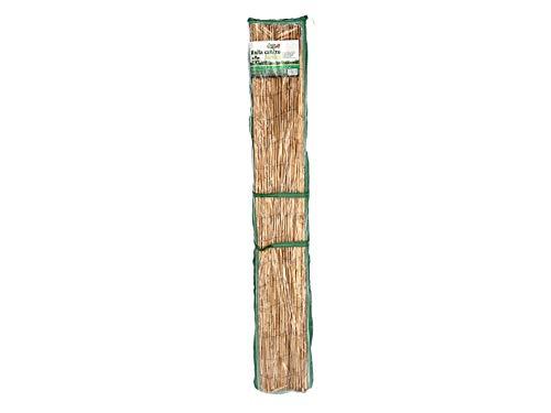 Gerimport Schilfmatte auf Rolle - Höhe 100 cm Länge 300 cm - Gartentrennwand - Hellbraun - Schilfmatte - Schilfzaun - 100x350cm