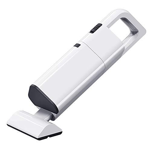 Aspirateur à main, aspirateur portatif 2000mA puissant d'aspiration cyclonique tenue dans la main sans fil rechargeable sec humide pour le nettoyage à la maison de voiture de poils d'animaux,White