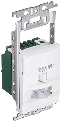 パナソニック(Panasonic) 熱線センサ付自動スイッチ 壁取付 コスモシリーズ ワイド21 2線式・3路配線対応 LED専用 (明るさセンサ・手動スイッチ・スイッチスペース付) ホワイト WTK18115WK