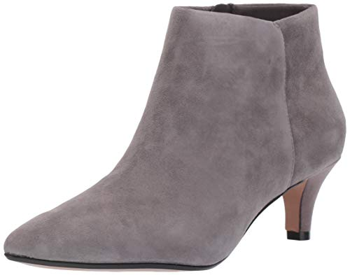 Clarks Women's Linvale Sea Fashion Boot, Grey Suede, 8 M US
