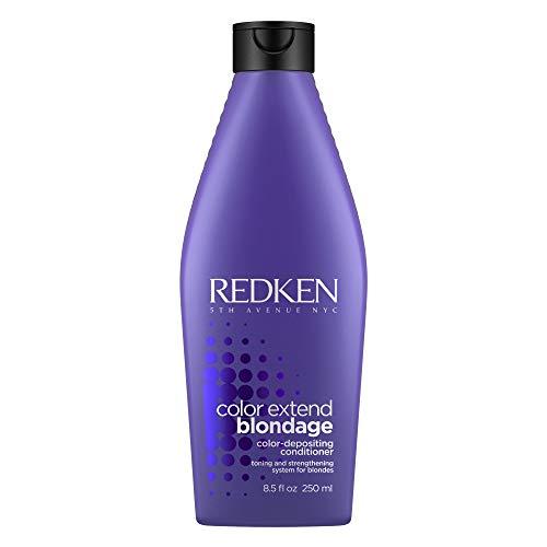 Redken - Color Extend Blondage, Balsamo Professionale con pigmenti viola per capelli biondi, districa e idrata per una maggiore brillantezza, neutralizza i riflessi gialli e rinforza, 250 ml
