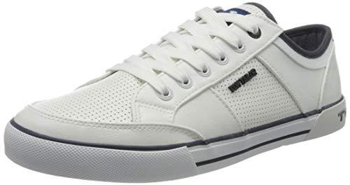 TOM TAILOR Herren 805100430 Sneaker, Weiß (White 00002), 42 EU