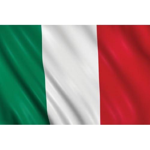 BANDIERA ITALIA ITALIANA TRICOLORE cm. 70 x 50 poly lucido acetato