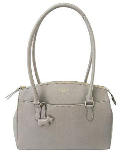Radley Schultertasche Sandham Saffiano Leder Handtasche, Grau - asche - Größe: Large