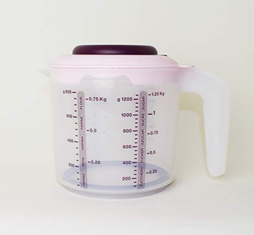 TUPPERWARE D217 Mini Candy (1,25L) Rührbecher Messbecher Beere + Mini Trichter Lila