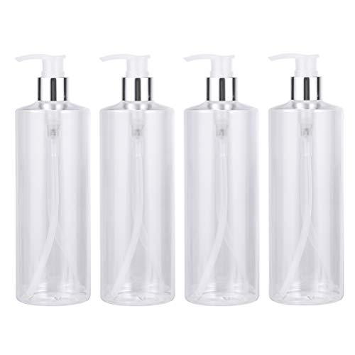LIOOBO Botellas de loción vacías contenedores Botellas de plástico para artículos de tocador emulsión Recargable contenedor de jabón líquido