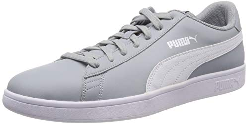Puma Puma Smash v2 L Scarpe da Ginnastica Basse Unisex - Adulto, Grigio (Quarry-Puma White), 43 EU (9 UK)