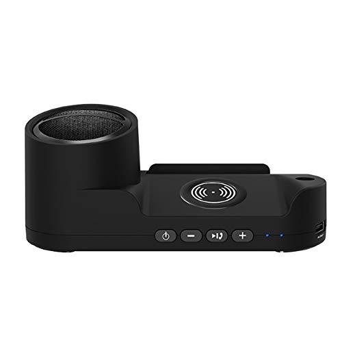 YPJKHM Altavoz Inteligente inalámbrico de Carga rápida, Altavoz Bluetooth inalámbrico Creativo, Altavoz Bluetooth con Cargador inalámbrico