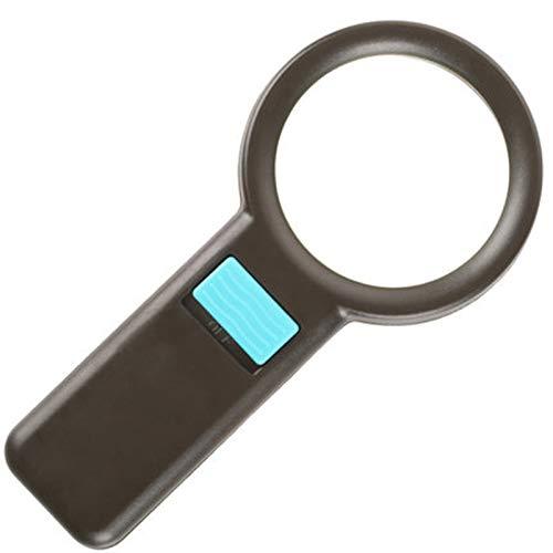 YWAWJ Mano 10 Veces Lupa, fotoeléctrica de Alta definición con lámpara, Personas Mayores Usan Espejo de Aumento para Leer y Leer 20 Veces
