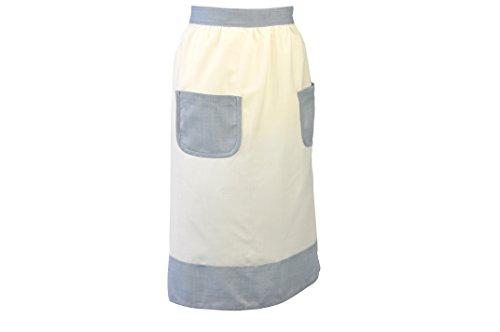 Bellanda 2892–66 x 86 HS moitié Tablier, Polyester, Blanc, 86 x 66 x 0,5 cm