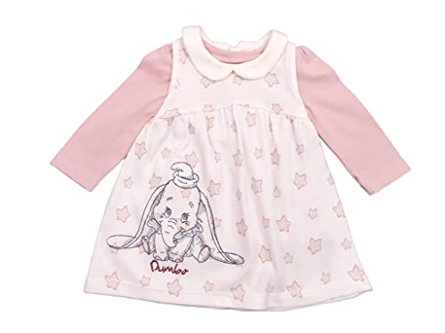 Baby Girls Dumbo Pinafore Dress Long Sleeve Top and Tights Set 3 Piece Outfit