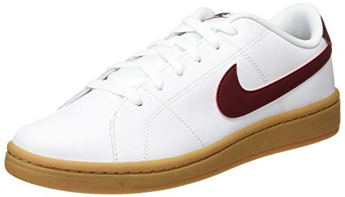 Nike Court Royale 2, Scarpe da Tennis Uomo, White/Team Red-Gum lt Brown, 42.5 EU