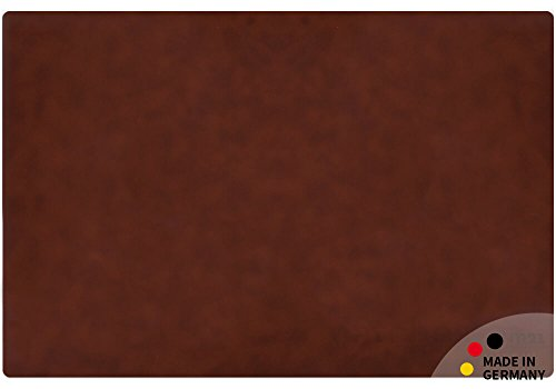matches21 Echtleder Schreibtischunterlage Noble edles Upcycling Leder mittelbraun Cognac rechteckig 60x40 cm Made IN Germany