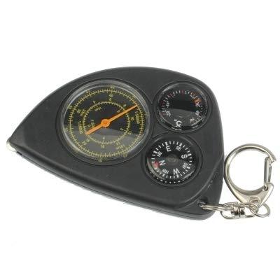 WARM home Créatif 3-en-1 Portable Multifonction Carte Mesureur de Distance + Compas + Thermomètre avec Porte-clés pour Le Camping en Plein air Randonnée Multifonction