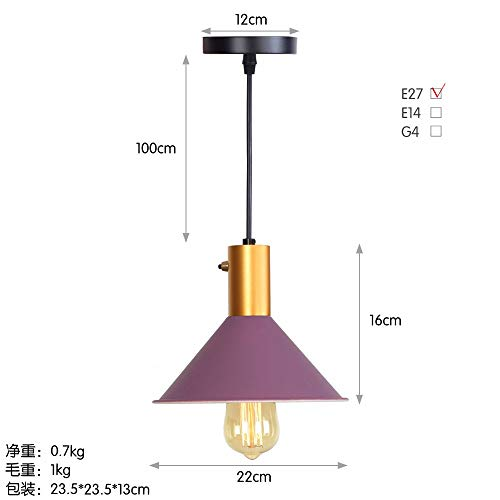 NDFSE-Pendant Lights Modern Lighting Modern Simple Lighting Shop Bar Chandelier,Violet