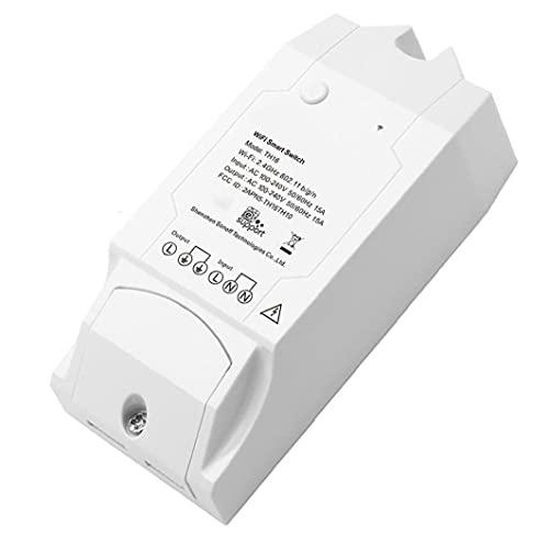 LAANCOO Interruptor de Humedad de Temperatura TH16 Sensor WiFi Sensor Sensor Control Remoto para DIY Home