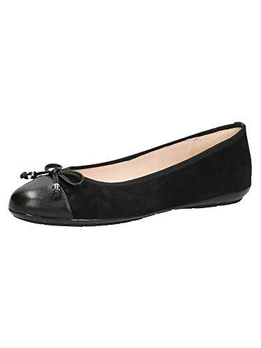 CAPRICE 9-9-22109-26, Zapatos Tipo Ballet Mujer, Black Emboss, 41 EU
