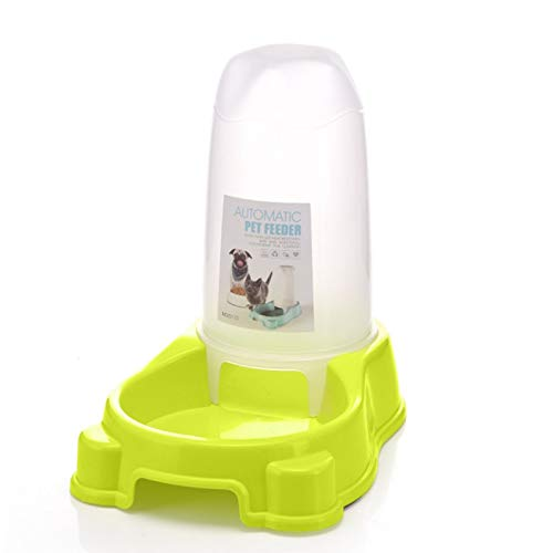 Smklcm nieuwe hoogwaardige automatische Feeder hond ketel zitten/verticaal/zelfbediening huisdier-waterdispenser Green Feeding Bowl