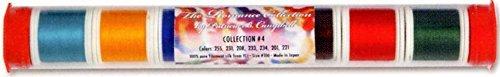 YLI 20210-PC4 100wt Romance Collection 3 Silk Sampler Thread, 200m