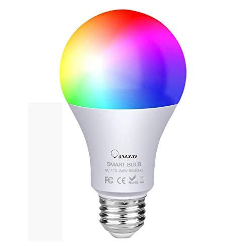 Intelligente WiFi LED Lampe10W 950Lm, ANGGO E27 Multicolor Glühbirne, kompatibel mit Alexa, Google Home und IFTTT (kein Hub erforderlich), A19 90W äquivalente RGB Farbwechselbirne (1 Packung)