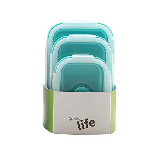 Rocita Silikon-Aufbewahrungsboxen, faltbar, wiederverwendbar, Frischhaltedosen, 3 Stück