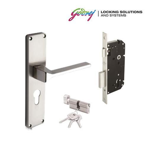 Godrej Mortise Lock DC 5992 NEH 16 CY Zinc Alloy Door Handle (Silver)