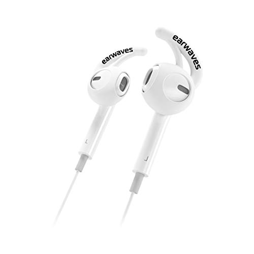 Earwaves ® - Accesorio fijador Compatible con Auriculares Apple AirPods & Apple EarPods. Compatible con Auriculares iPhone X, iPhone 8, iPhone 7, etc. Incluye 2 Tallas.