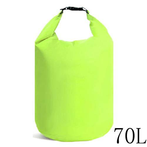 Sunskyoo - Bolsa de primeros auxilios impermeable para deportes al aire libre, a la deriva, camping, senderismo, navegación, surf, kayak, natación, color Verde fluorescente grande (70l), tamaño As description
