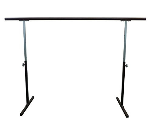 Softtouch Ballet Barre 6.5ft Portable Dance Bar - Adjustable Height 31' - 49' - Freestanding Stretch Barre 80'