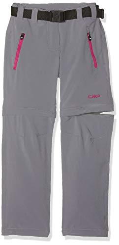 CMP Zip off 3T51445, Pantaloni Bambina, Grigio (Grey), 98 cm