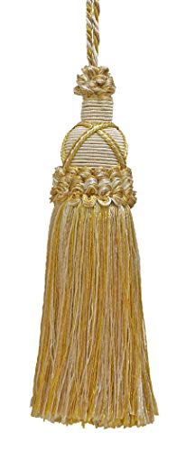 Decorative 14cm Key Tassel, Light Gold, Ivory Imperial II Collection Style# KTIC Color: IVORY GOLD - 2523