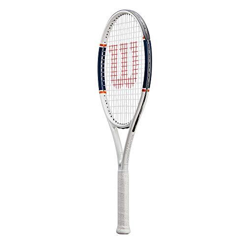 Wilson Roland Garros Triumph WR030510U2 Racchetta da Tennis, Bianco/Blu/Arancione