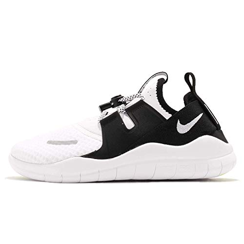 Nike Boy's Free RN Commuter 2018 Running Shoe, Black/White-Volt, 5Y