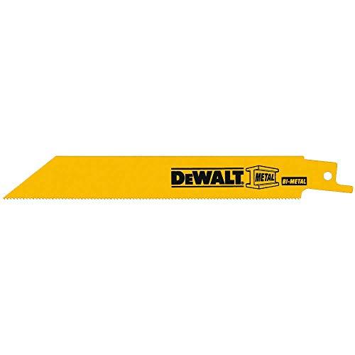 DEWALT Reciprocating Saw Blades, Bi-Metal, 6-Inch, 18 TPI, 100-Pack (DW4811B)