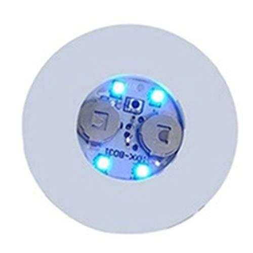 wEnBU Cerveza Cóctel LED Light Coaster Intermitente Creativo Luminoso Botella LED Light Cup Sticker Mat Bar Club Party Supply Coaster Azul