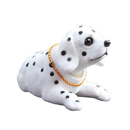 C12DS Auto Dekoration Wackelhund Bobbing Leiter Hund Dalmatiner geformt Wackelhund fürs Auto Wackeldackel Muttertagsgeschenk