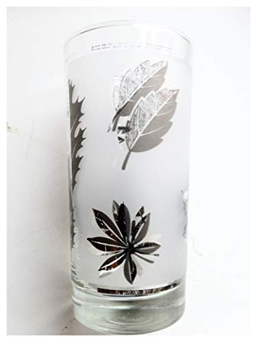 Vintage Libby Leaf Foliage Glass Tumbler Gold. -  Collectable