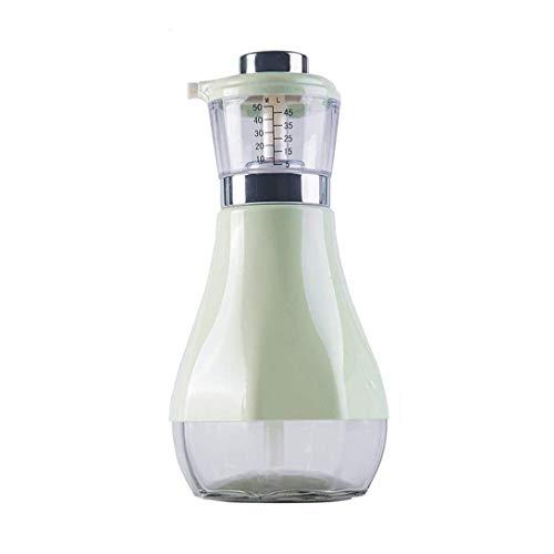 Aceitera y vinagrera Aceite de oliva y vinagre, salsa de soja, la cocina Botella de vino, dispensador, 500 ml de prensa, tarro de cristal de aceite dispensador for la cocina ( Color : Green )