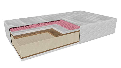 Hyggelia Amalfi MAX Mattress Latex + Visco Coconut   29 cm   H1/H3 Soft/Medium Hard   Thermoplastic Foam 4 cm   Reversible Mattress   Removable Anti-Allergic Cover (140 x 200 cm)