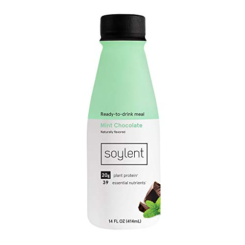 Soylent Mint Chocolate Plant Protein Meal Replacement Shake 14 fl oz 12 Bottles  Packaging May Vary