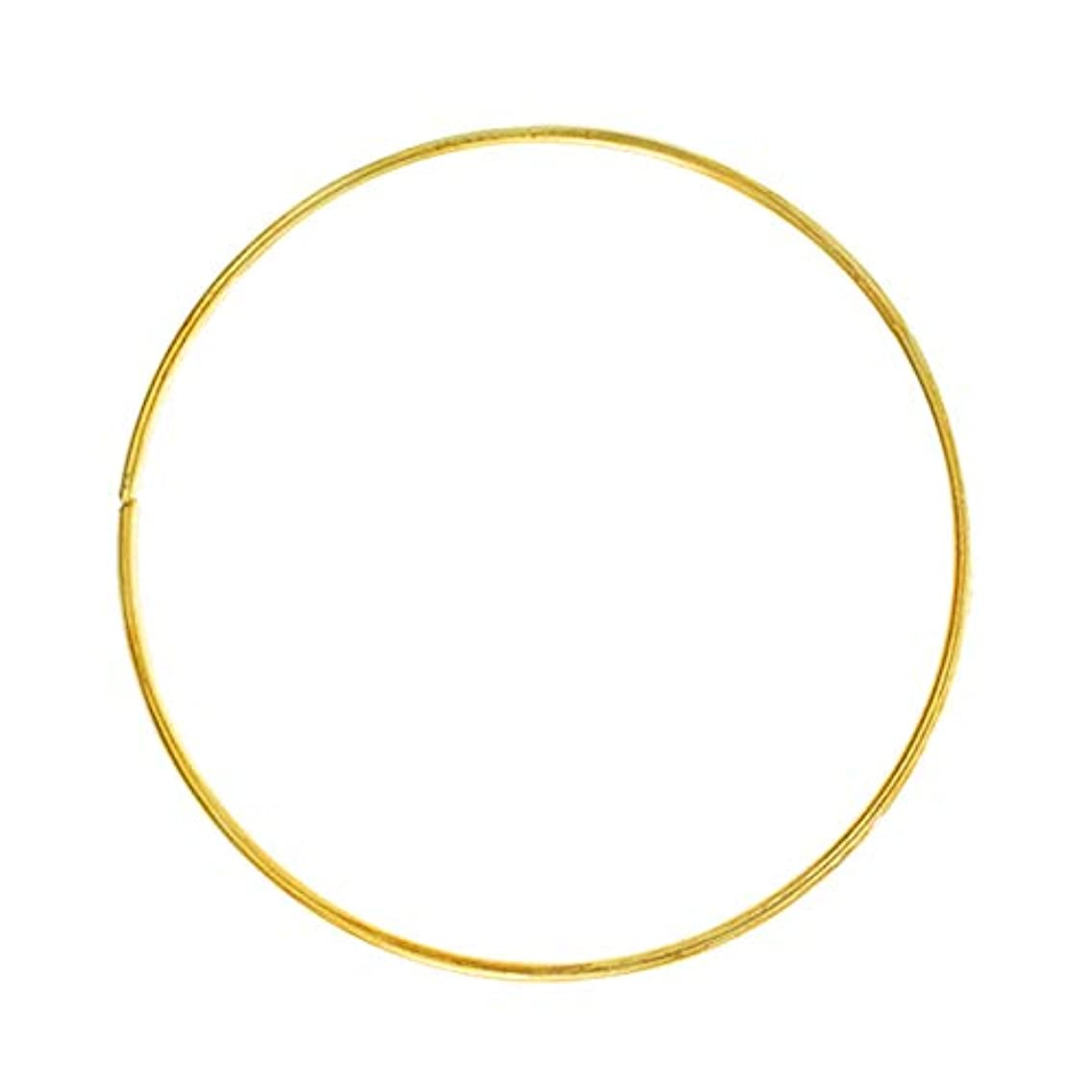 Craft County Golden Welded Metal Wire Hoop Rings – Diameters of 2, 3, 4, 5, 6 Inches – Available in Single, 5, 10 Packs – Great for Crafting, Decoration, Macrame