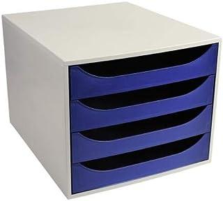 Exacompta 2286104d Meuble, gris/bleu nuit, 34.8x 28.4x 23.4